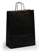 Черные пакеты крафт с крученой ручкой