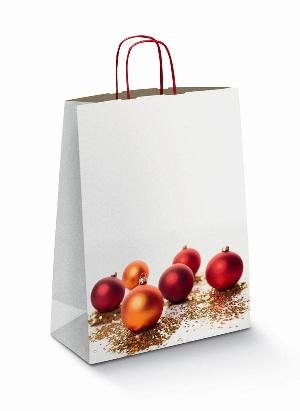 Пакет с новогодними шариками