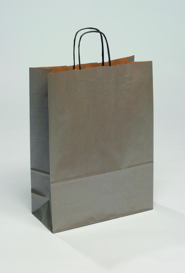 Крафт пакет серебряный Новогодний
