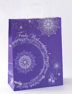 Лиловый пакет новогодний
