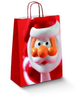 Крафт пакет Дед Мороз